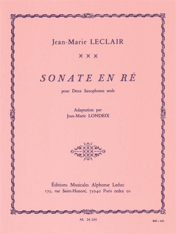 Sonate en Ré - LECLAIR - Partition - Saxophone - laflutedepan.com