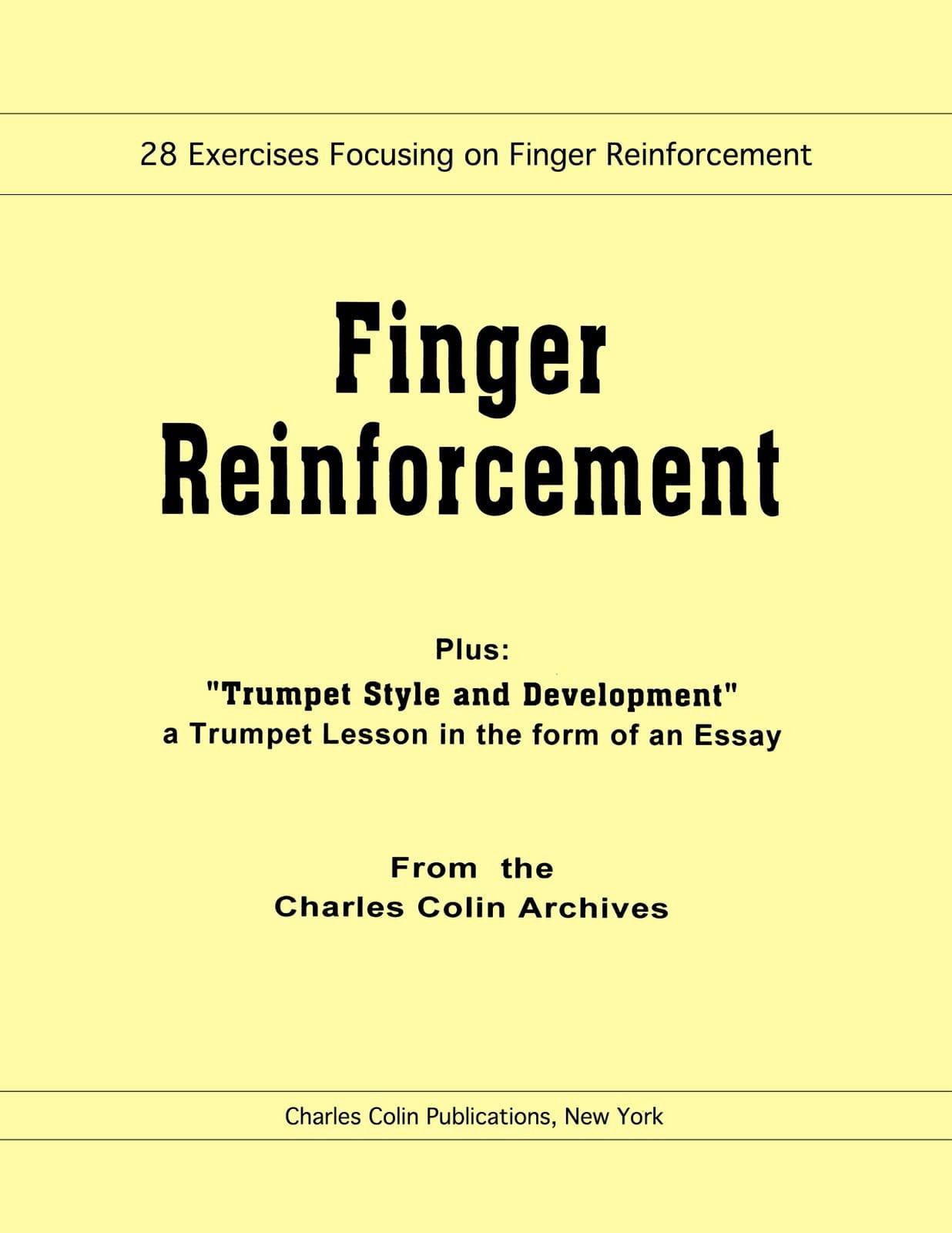 Finger Reinforcement - Charles Colin - Partition - laflutedepan.com
