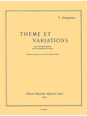 Thème Et Variations Yvonne Desportes Partition laflutedepan