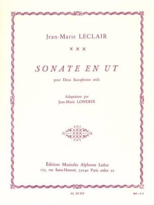 Sonate en Ut LECLAIR Partition Saxophone - laflutedepan