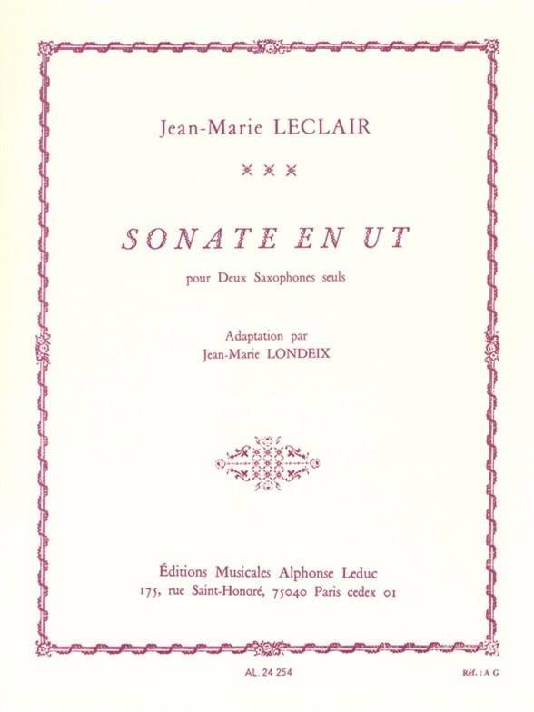 Sonate en Ut - LECLAIR - Partition - Saxophone - laflutedepan.com