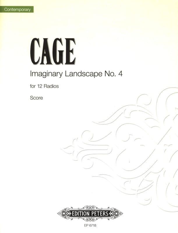 Imaginary Landscape N° 4 - Score - CAGE - Partition - laflutedepan.com
