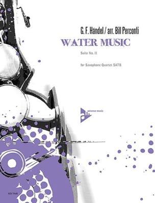 Water music - suite n° 2 HAENDEL Partition Saxophone - laflutedepan