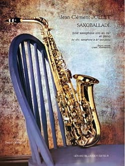 Saxoballade Jean-Clément Jollet Partition Saxophone - laflutedepan
