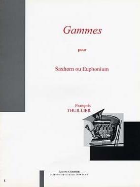 Gammes François Thuillier Partition Tuba - laflutedepan