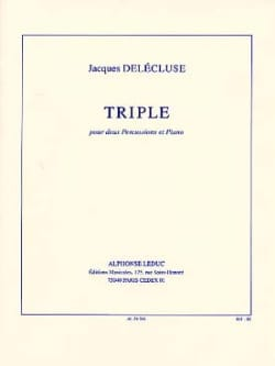 Triple Jacques Delécluse Partition laflutedepan