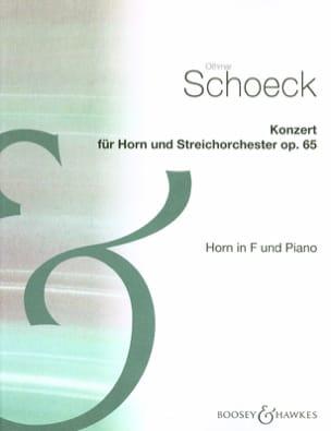 Konzert Opus 65 Othmar Schoeck Partition Cor - laflutedepan