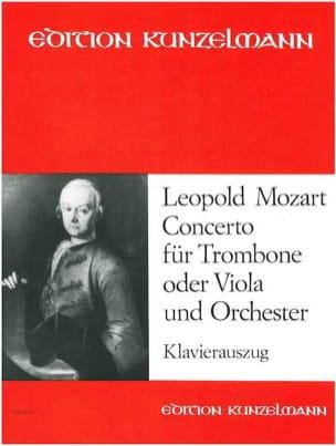 Concerto Leopold Mozart Partition Trombone - laflutedepan