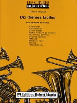 Dix Thèmes Faciles - Quintette de Cuivres Partition laflutedepan