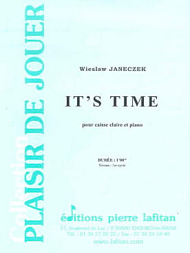 It's Time Wieslaw Janeczek Partition Caisse-claire - laflutedepan