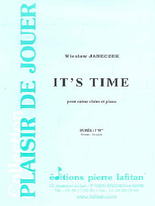 It's Time - Wieslaw Janeczek - Partition - laflutedepan.com