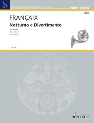Notturno E Divertimento FRANÇAIX Partition Cor - laflutedepan