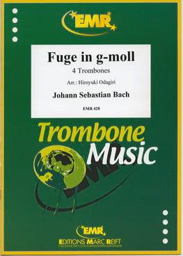 Fugue en Sol mineur - Quatuor de Trombones BACH Partition laflutedepan
