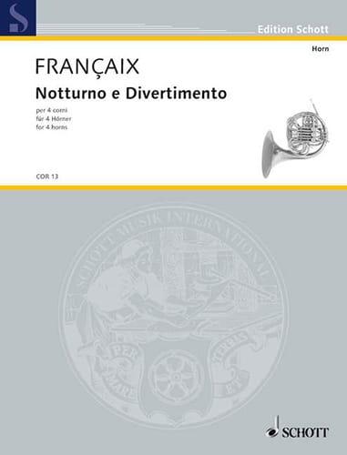 Notturno E Divertimento - FRANÇAIX - Partition - laflutedepan.com