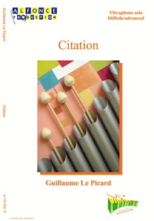 Citation - Picard Guillaume Le - Partition - laflutedepan.com