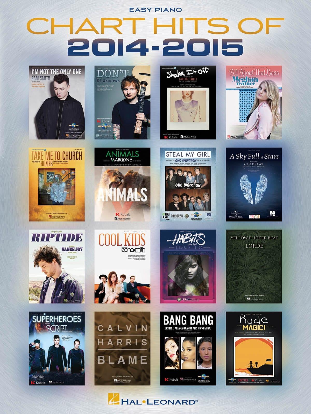 Chart Hits of 2014-2015 - Easy Piano - laflutedepan.com