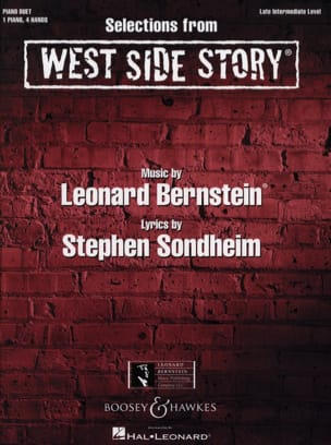 West Side Story pour piano 4 mains BERNSTEIN Partition laflutedepan