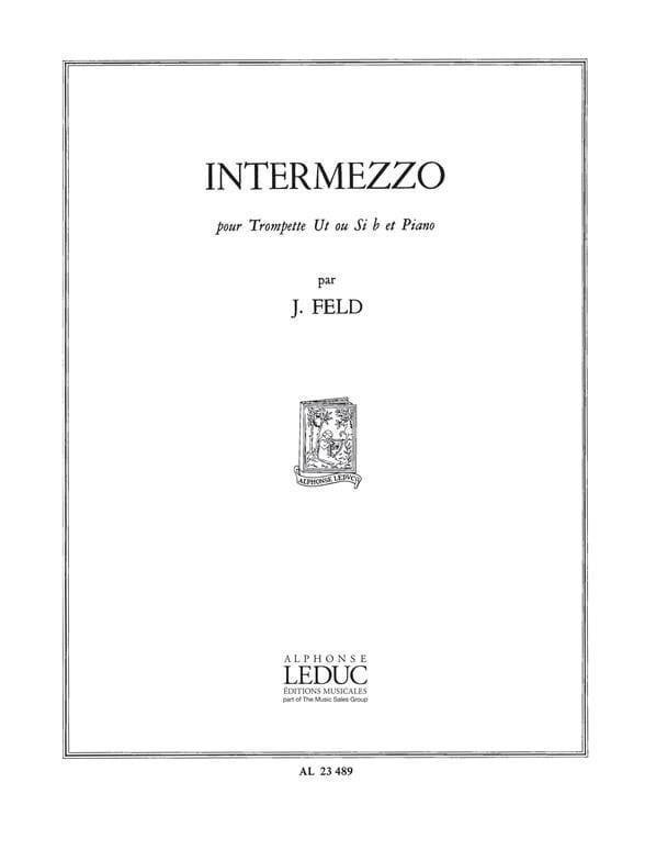 Intermezzo - Jindrich Feld - Partition - Trompette - laflutedepan.com