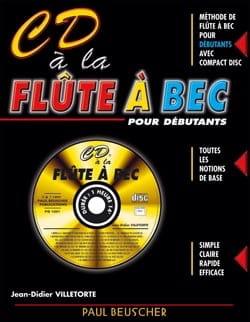 CD A la Flute A Bec Jean-Didier Villetorte Partition laflutedepan