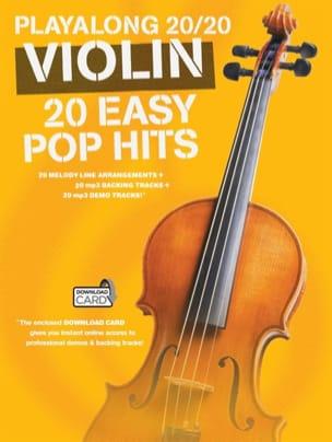 Playalong 20/20 Violin 20 Easy Pop Hits Partition laflutedepan