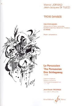 3 danses Jorand Marcel / Di Tucci Jean-Jacques Partition laflutedepan