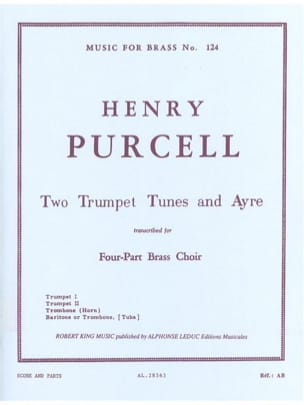 2 Trumpet tunes and ayres PURCELL Partition laflutedepan