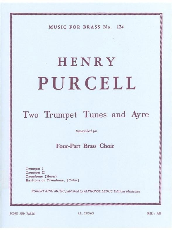 2 Trumpet tunes and ayres - PURCELL - Partition - laflutedepan.com