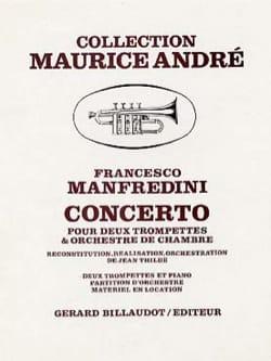Concerto Francesco Manfredini Partition Trompette - laflutedepan