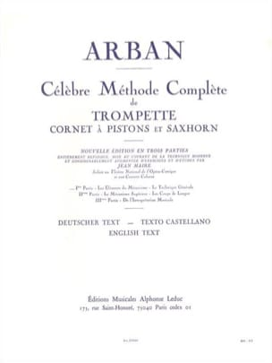 Méthode Volume 1 Jean-Baptiste Arban Partition laflutedepan
