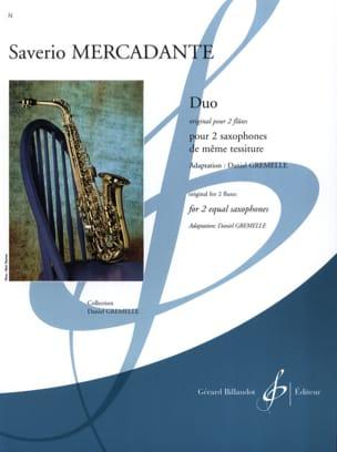 Duo - Original pour 2 flûtes Saverio Mercadante Partition laflutedepan