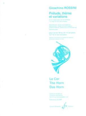 Prélude, Thème Et Variations - ROSSINI - Partition - laflutedepan.com