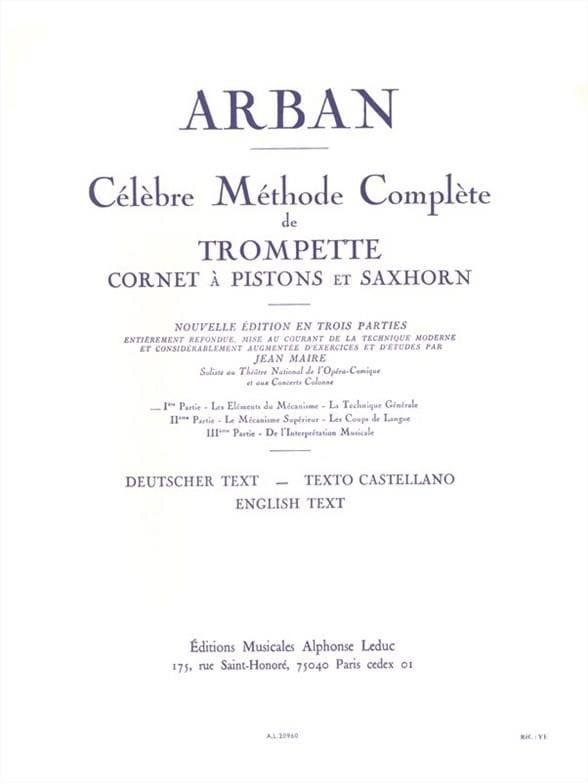 Méthode Volume 1 - Jean-Baptiste Arban - Partition - laflutedepan.com