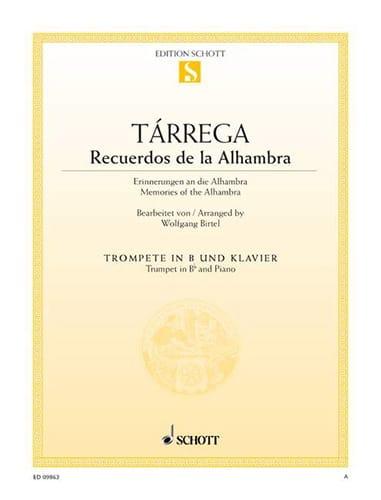 Recuerdos de la Alhambre - TARREGA - Partition - laflutedepan.com