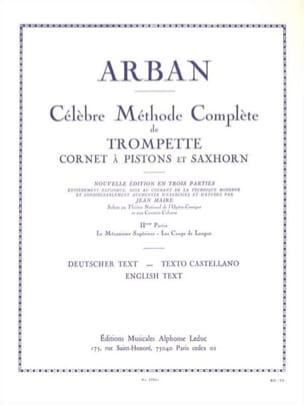 Méthode Volume 2 Jean-Baptiste Arban Partition laflutedepan