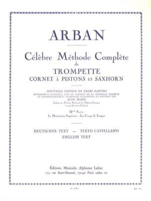 Jean-Baptiste Arban - Método del volumen 2 - Partition - di-arezzo.es