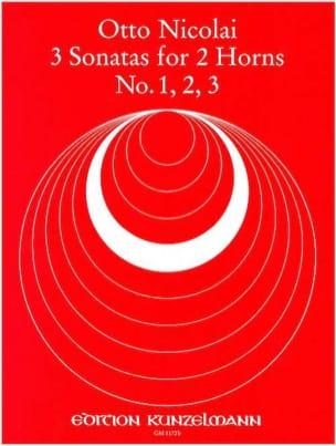 3 Sonatas N° 1, 2, 3 Otto Nicolai Partition Cor - laflutedepan