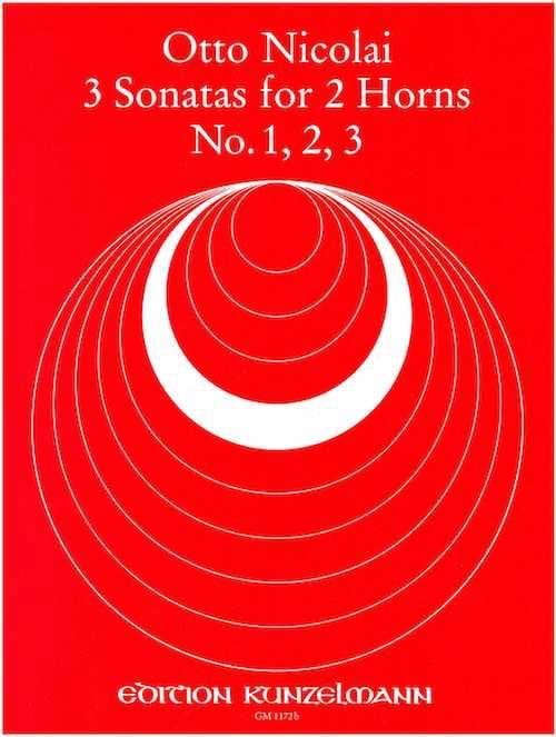 3 Sonatas N° 1, 2, 3 - Otto Nicolai - Partition - laflutedepan.com