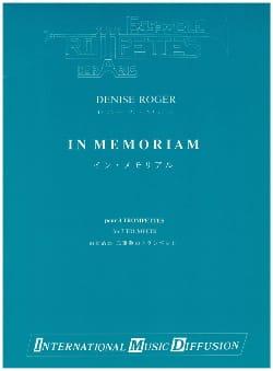 In Memoriam - Denise Roger - Partition - Trompette - laflutedepan.com