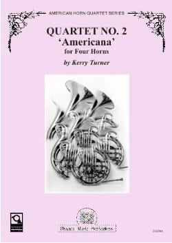 Quartet N° 2 Americana Kerry Turner Partition Cor - laflutedepan