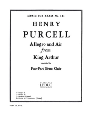 Allegro and air from King Arthur PURCELL Partition laflutedepan