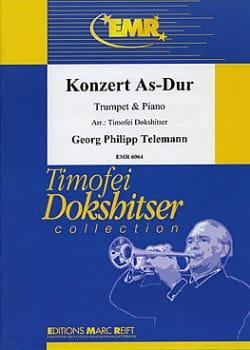 Konzert As-Dur TELEMANN Partition Trompette - laflutedepan