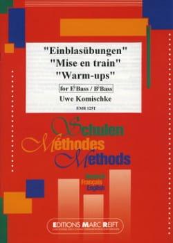 Mise en train Uwe Komischke Partition Tuba - laflutedepan