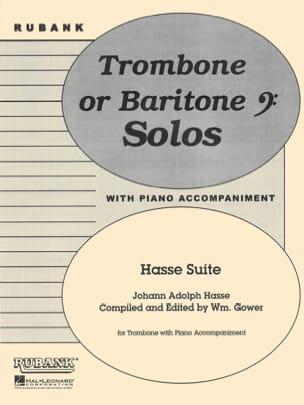 Hasse Suite Johann Adolph Hasse Partition Trombone - laflutedepan