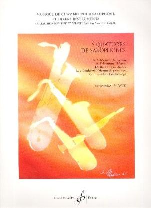 5 Quatuors de Saxophones Partition Saxophone - laflutedepan