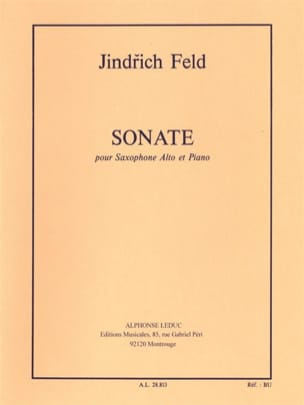 Sonate Jindrich Feld Partition Saxophone - laflutedepan