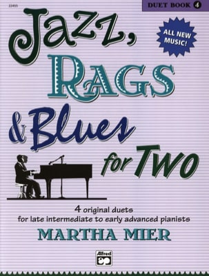 Jazz, Rags & Blues for Two - Duet Book 4 Martha Mier laflutedepan