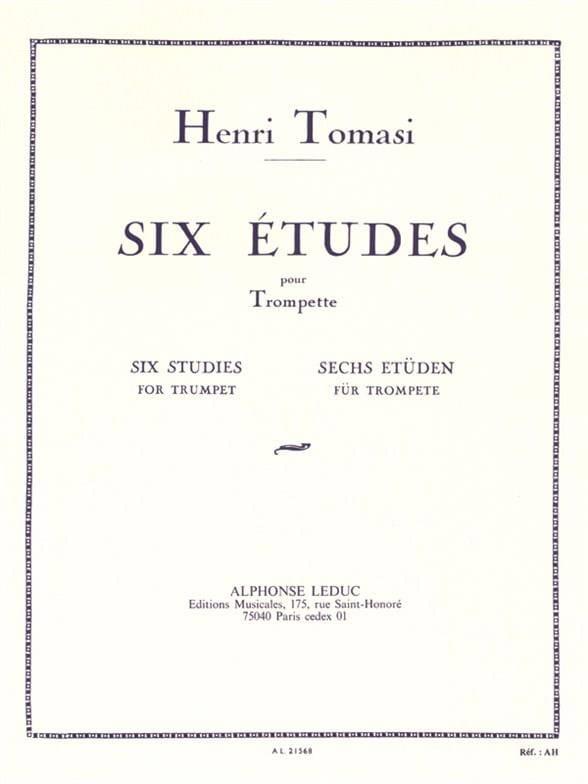 6 Etudes - TOMASI - Partition - Trompette - laflutedepan.com