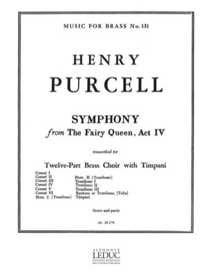 Symphony From The Fairy Queen Act 4. 12 Cuivres PURCELL laflutedepan