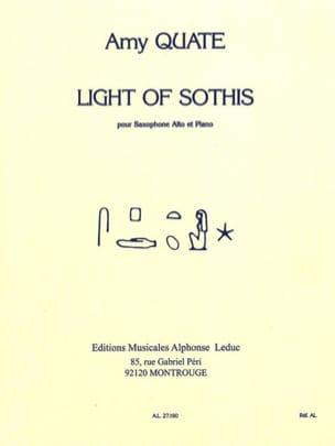 Light Of Sothis - Amy Quate - Partition - Saxophone - laflutedepan.com
