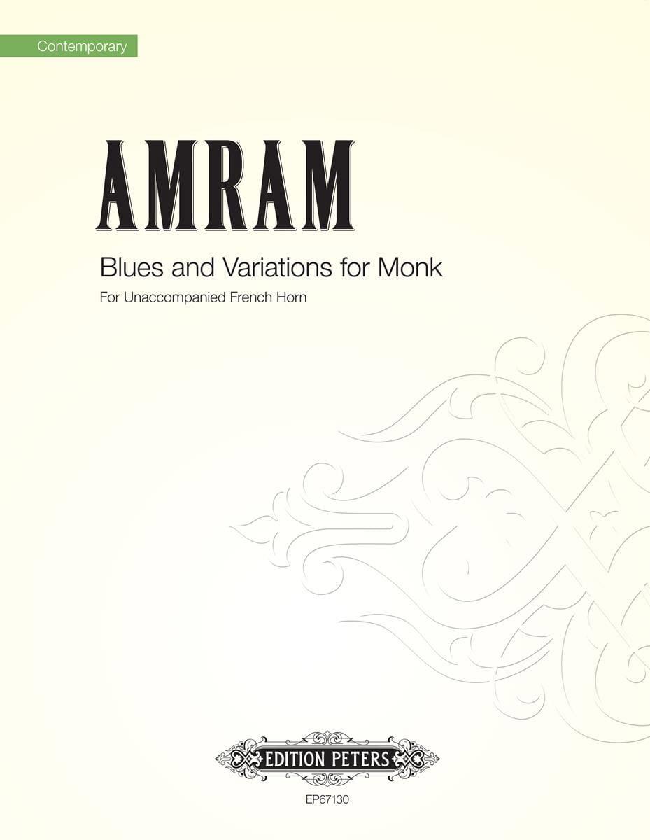 Blues and Variations for Monk - David Amram - laflutedepan.com